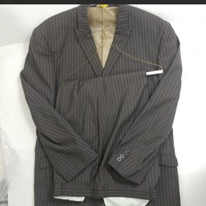 Stacy Adams Gold - Chocolate Pinstripe Suit